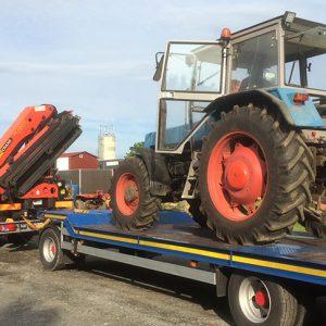 Transport von Landmaschinen